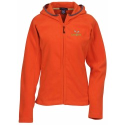 View a larger, more detailed picture of the Landmark Full Zip Microfleece Hoodie - Ladies