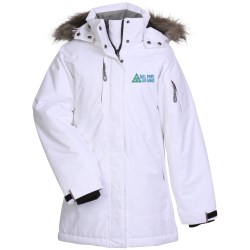 View a larger, more detailed picture of the Eversum Insulated Faux Fur Trim Hooded Jacket - Ladies