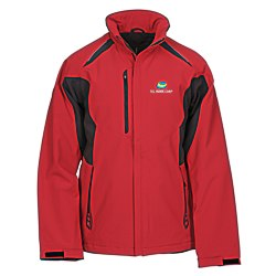 View a larger, more detailed picture of the Ortega Color Block Insulated Soft Shell Jacket - Men s