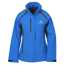 View a larger, more detailed picture of the Ortega Color Block Insulated Soft Shell Jacket - Ladies