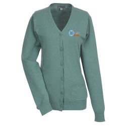 View a larger, more detailed picture of the Narenta V-Neck Cardigan Sweater - Ladies