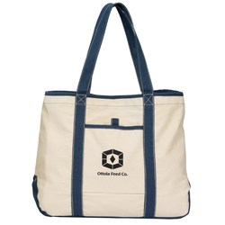 View a larger, more detailed picture of the Topsail Recycled Cotton Tote - Closeout
