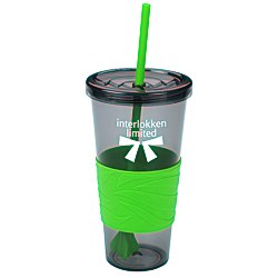 View a larger, more detailed picture of the Smoky Revolution Tumbler w Straw - 24 oz 