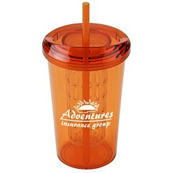View a larger, more detailed picture of the Tutti Frutti Infuser Tumbler w Straw - 20 oz