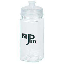 View a larger, more detailed picture of the Clear Impact Squared-Up Sport Bottle - 16 oz
