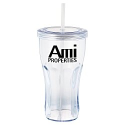 View a larger, more detailed picture of the Fountain Soda Tumbler with Straw - 24 oz