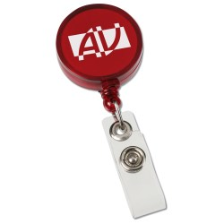 View a larger, more detailed picture of the Round Retractable Badge Holder w Slide-on Clip-Closeout