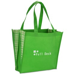 View a larger, more detailed picture of the Non-Woven Peek-A-Boo Tote - Closeout