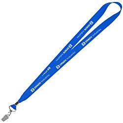 View a larger, more detailed picture of the Lanyard w Metal Bulldog Clip - 3 4 