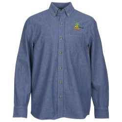 View a larger, more detailed picture of the Button Collar Chambray Shirt - Men s