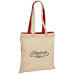 View a larger, more detailed picture of the Lightweight Economy Two-Tone Cotton Tote