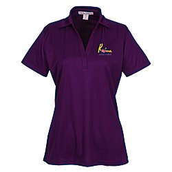 View a larger, more detailed picture of the Performance Fine Jacquard Polo - Ladies