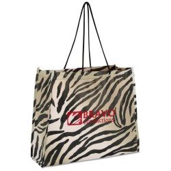 View a larger, more detailed picture of the Non-Woven Swanky Shopper - Zebra - Closeout