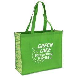 View a larger, more detailed picture of the Non-woven Motif Carry All - Recycle - Closeout
