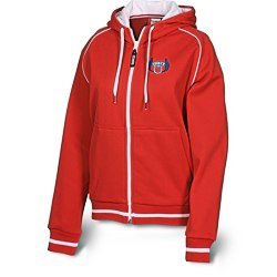 View a larger, more detailed picture of the Hooded Overknit Jacket - Ladies