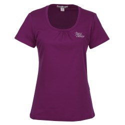 View a larger, more detailed picture of the Silk Touch Interlock Scoop Neck T-Shirt