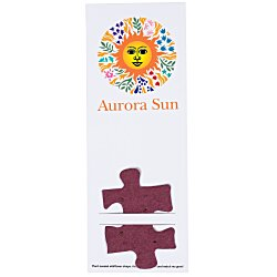 View a larger, more detailed picture of the Plant-A-Shape Flower Seed Bookmark - Puzzle Piece