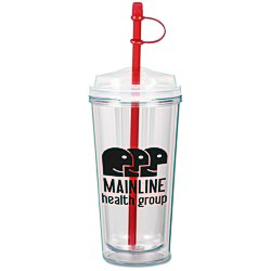 View a larger, more detailed picture of the Infuser TakeOut Tumbler w Straw - 16 oz