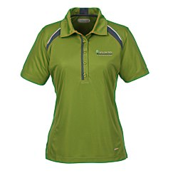 View a larger, more detailed picture of the Quinn Color Block Textured Polo - Ladies - 24 hr