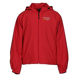 View a larger, more detailed picture of the Hooded Raglan Athletic Jacket
