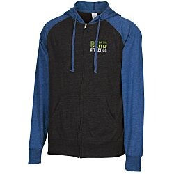 View a larger, more detailed picture of the Independent Trading Co 4 5 oz Raglan Full Zip Hoodie-Emb