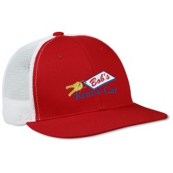 View a larger, more detailed picture of the Flat Bill Trucker Cap