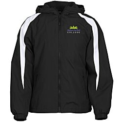 View a larger, more detailed picture of the Athletic Fleece Lined Colorblock Jacket
