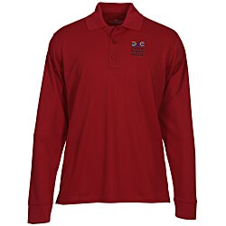View a larger, more detailed picture of the Vansport Omega Solid Mesh LS Tech Polo - Men s