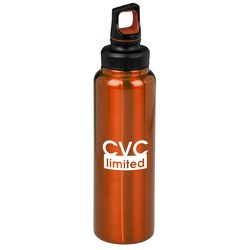 View a larger, more detailed picture of the h2go Duo Stainless Steel Bottle - 32 oz - Closeout