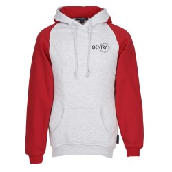 View a larger, more detailed picture of the Raglan Colorblock Pullover Hoodie