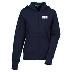 View a larger, more detailed picture of the Full Zip Hooded Fleece Jacket - Ladies