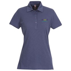 View a larger, more detailed picture of the Ring Spun Cotton Slub Polo - Ladies