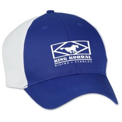 View a larger, more detailed picture of the Two-Tone Polyester Cap - Transfer