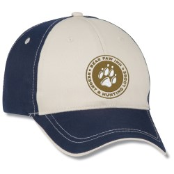 View a larger, more detailed picture of the Two-Tone Polyester Cap w Contrast Stitch - Embroidered