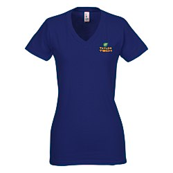 View a larger, more detailed picture of the District Concert V-Neck Tee - Ladies - Colors - Emb
