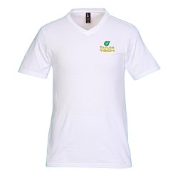 View a larger, more detailed picture of the District Concert V-Neck Tee - Men s - White - Emb