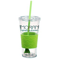 View a larger, more detailed picture of the Rotation Tumbler w Straw - 20 oz