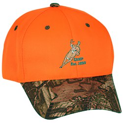 View a larger, more detailed picture of the Blaze Cap w Camo Visor - Embroidered