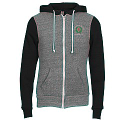 View a larger, more detailed picture of the Alternative Unisex 6 4 oz Rocky Color-Blocked Full-Zip