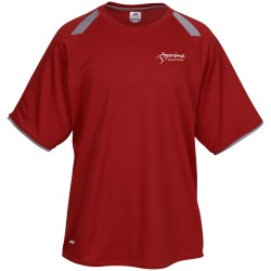 View a larger, more detailed picture of the Russell Athletic Colorblock Dri Power Tee