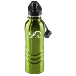 View a larger, more detailed picture of the Curve Stainless Steel Bottle - 28 oz - Closeout