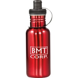 View a larger, more detailed picture of the Adventure Stainless Steel Water Bottle - 20 oz - Closeout