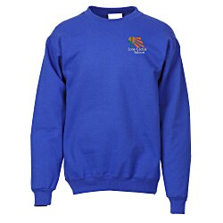 View a larger, more detailed picture of the Hanes Ultimate Cotton Crew Sweatshirt - Embroidery