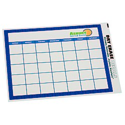 View a larger, more detailed picture of the Removable Monthly Calendar Decal - Trellis