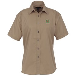 View a larger, more detailed picture of the Capulin EZ-Care SS Fine Line Twill Shirt - Ladies