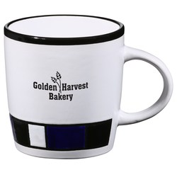 View a larger, more detailed picture of the Color Block Ceramic Mug - White - 14 oz