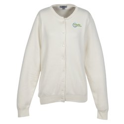 View a larger, more detailed picture of the Ultra-Soft Cotton Cardigan Sweater - Ladies - 24 hr