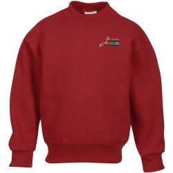 View a larger, more detailed picture of the Jerzees Nublend Super Sweats Crew - Youth - Embroidered