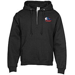 View a larger, more detailed picture of the Jerzees Nublend 1 4 Zip Hoodie