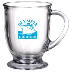 View a larger, more detailed picture of the Cafe Glass Mug - 16 oz - 24 hr